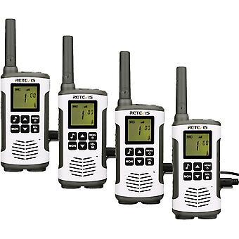 HanFei RT45 Walkie Talkie, PMR446 Lizenzfrei 16 Kanle, VOX,10 Rufton, LED Taschenlampe, Walkie-Talkie
