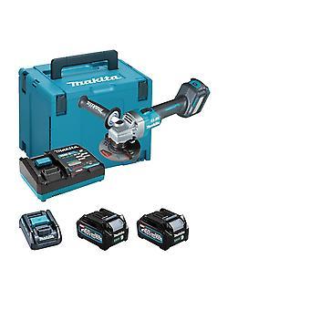 Makita GA022GD202 40Vmax XGT 115mm Angle Grinder 2 x 2.5Ah Battery In MakPac Case