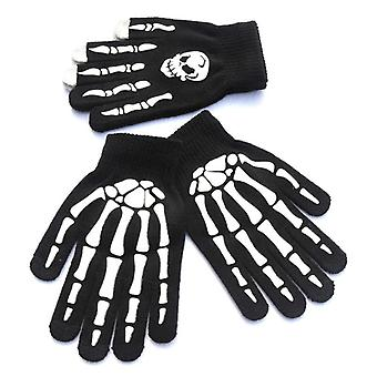 Gloves For Winter Hand Warmer Non-slip Horror Hand Bone Skull