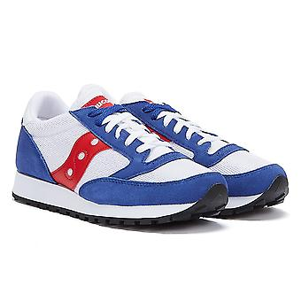 Saucony Jazz Vintage Mens White / Royal / Red Trainers