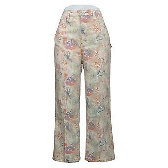 Sam Edelman Dames Jeans The Chelsea Wide Leg Jeans Roze A448960