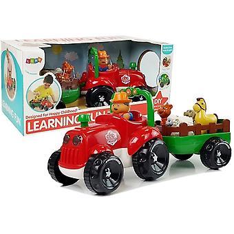 Traktor mit Fahrer + Tiere – Spielzeugauto