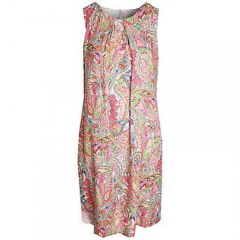 Just White Sleeveless Floral Print Dress