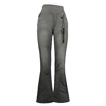DG2 By Diane Gilman Women's Pants Flex Boot-Cut Gray 736337