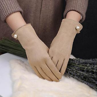 Naisten käsineet talvella, kosketusnäyttö plus samettiset lämpimät käsineet