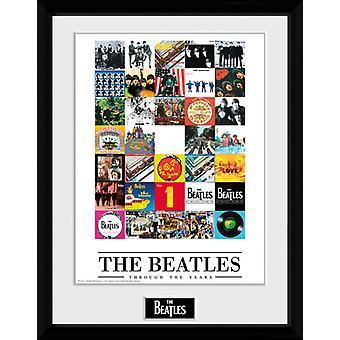 Beatles läpi vuosien kehystetty 16x12 valokuva painatus