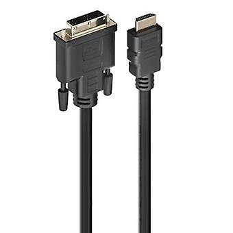HDMI till DVI-kabel Ewent EC1350 Svart