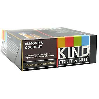 Fruits gentils &Barres de noix Fruits gentils &Nut, Amande &Noix de coco 1.4 lbs (cas de 12)