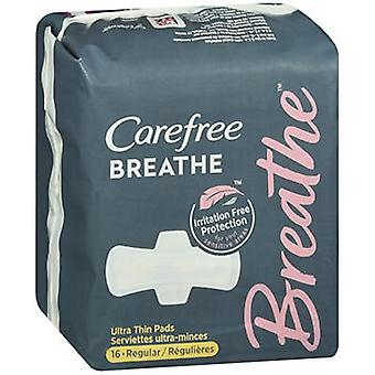 Despreocupado Respirar Almofadas Ultra Finas Regular, 16 Cada
