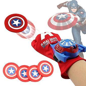 Disney Plastic Cosplay America Captain Glove Launcher Funny Toy