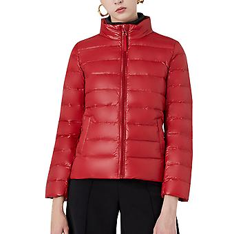 Women's Solid Color Stand Collar Zipper Casual Cotton Coat Jacket