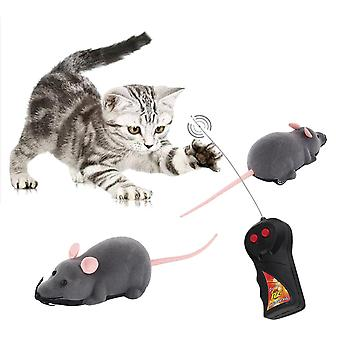 Kids Remote Control Simulation Plush Mouse Toy For Cat Dog