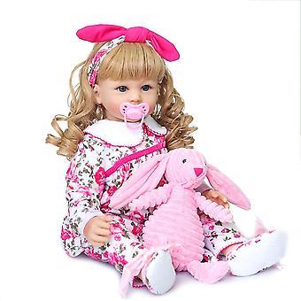 Reobrn kisgyermek babák elegáns hercegnő lány 60cm szilikon bebe újjászületett élő babák brinquedos gyermek játékok ajándék