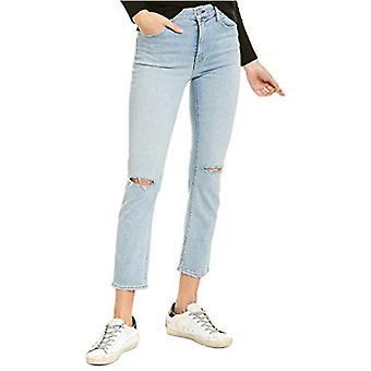 Hudson Jeans Womens Barbara Ripped Straight-Leg Jeans