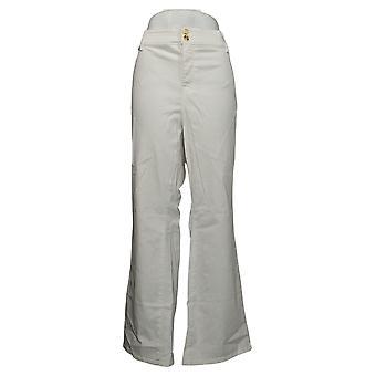 Global Chic By Iman Women's Plus Pants Slim Bootcut White 685831UCU