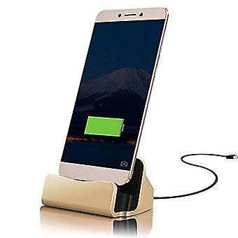 (Goud) Motorola Moto Z Play Droid Desktop Charger USB TYPE C Base Stand