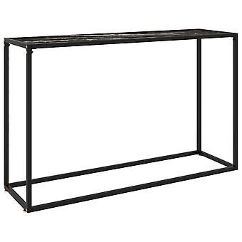 vidaXL konsolipöytä musta 120x35x75 cm karkaistu lasi