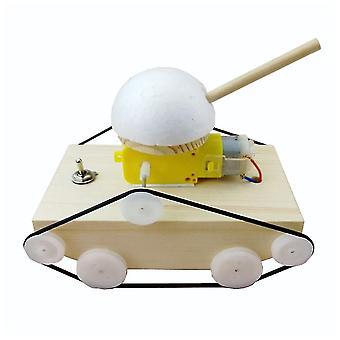 Wood Tank Building Kit 3d Assemble Wooden Car Diy Four-wheel-drive Model Material Set