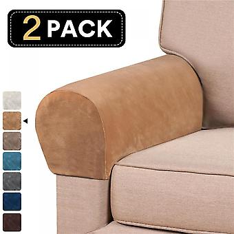Stretch Velvet Stoel Arm Protector Covers Fauteuil Cover Armleuning Sofa Couch