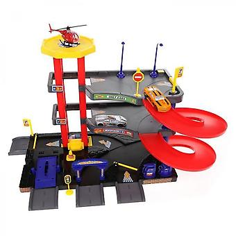 Garage Multi-level Box With Accessories, Metal Vehicles