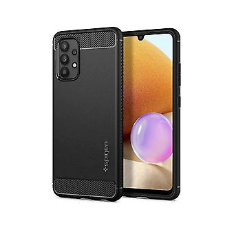 Cover for Galaxy A32 Silicone Shock Absorbing Carbon Rugged Armor Spigen black