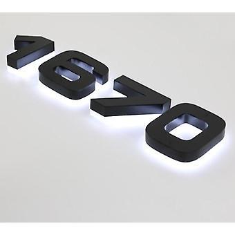 Openlucht verlicht teken van de Kanaalbrief en Backlit Halo verlicht huisaantal