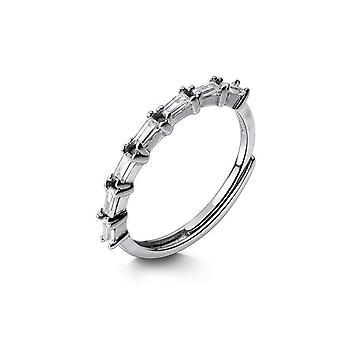 Häikäisevä rengas valkoinen neliö muotoinen sormi renkaat hopea pinnoitus korut