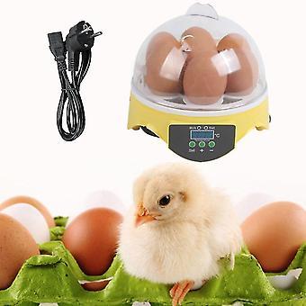 7 oeufs Incubateur d'œufs numériques pour les canards de volaille Œufs de poule éclosoir Eu Plug