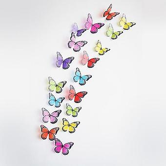 Home decor decals 3d effect crystal butterflies wall sticker