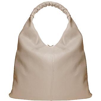 Sten stor zip top läder hobo väska