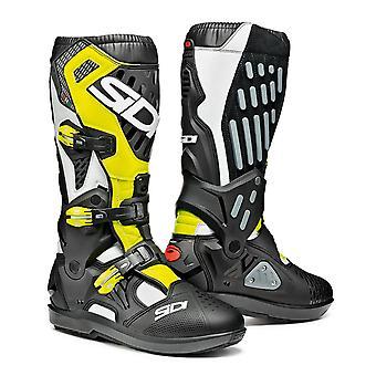 Sidi Atojo SRS White Black Yellow Flo Boots CE