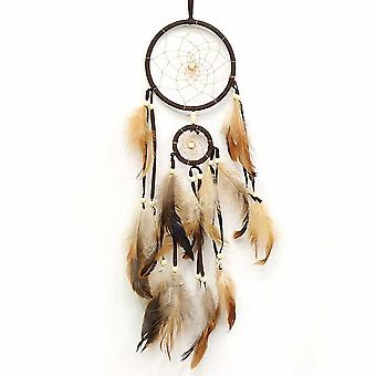 Indian Style Brown Dream Catcher Feathers Core Bead Dreamcatcher