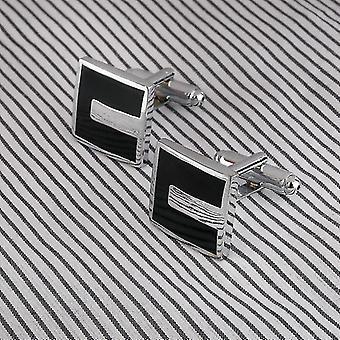 Stile francese Uomini d'affari Gemelli quadrati sagomato gemelli stampaggio ottone