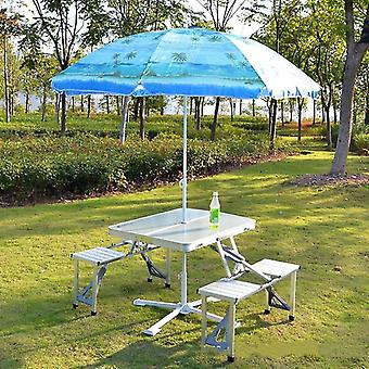 Outdoor Picnic Portable Foldable Aluminum Alloy Table/desk Chairs