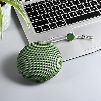 TWS Bluetooth 5.0 Draagbare Luidspreker Outdoor Hiking F Sports Mini StereoCalls  Draagbare luidsprekers (groen)