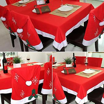 Non Woven Fabric Fantastic Holiday Christmas Table Cloth Dining Cloth Red 132 * 200cm