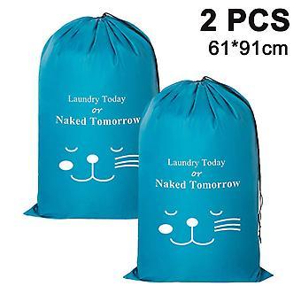 2 חבילת שקית כביסה, מכונה בגדים מלוכלכים בגדים מלוכלכים מארגן-אפור