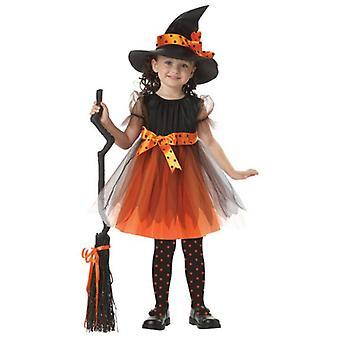 Gyermek lányok Halloween Cosplay Witch Jelmez