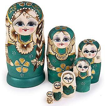 7pcs tre matryoshka dukker leker