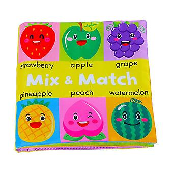 0-24 Months Baby Soft Book Educational Toys Cognitive Color Objects Early Education-d