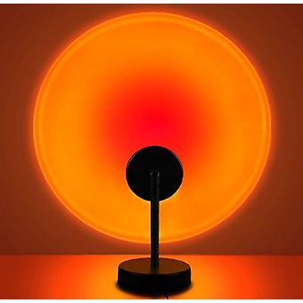 Led Sunset Lampe, 5w Projektor Regenbogen Licht USB Aufladen für Home Wohnzimmer Schlafzimmer Dekor