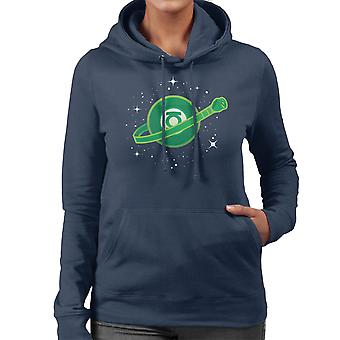 Building With Imagination Green Lantern Lego Women's Hooded Sweatshirt