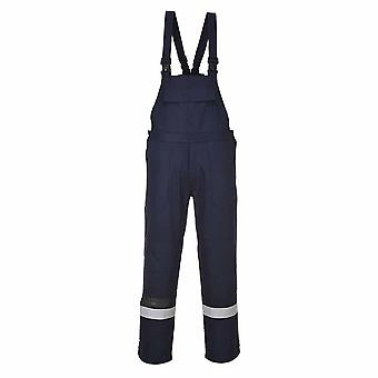 Portwest - Bizflame Plus Flame Resist Safety Workwear Bib and Brace Dungarees