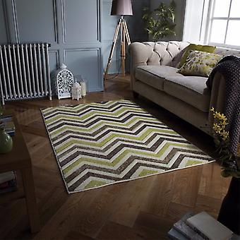 Portland 139 X Beige Creme grünes Rechteck Teppiche moderne Teppiche