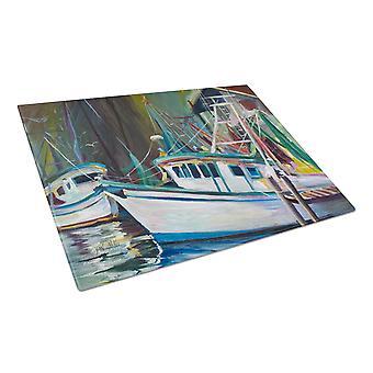 Carolines aarteita JMK1058LCB Joe Patti katkarapu veneen lasinen leikkuulauta suuri