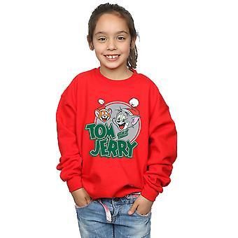 Tom And Jerry Girls Christmas Greetings Sweatshirt