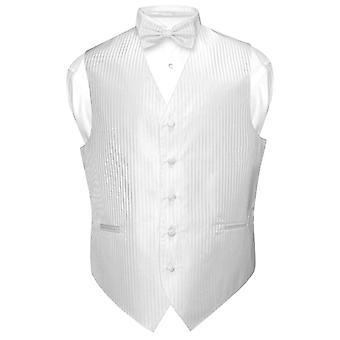 Herren Weste Kleid & BOWTie vertikale Streifen-Dessin Fliege um den Hals legen