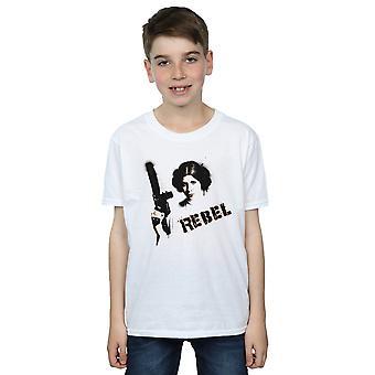 Star Wars Boys Princess Leia Rebel T-Shirt