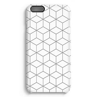 iPhone 6 Plus Full Print Fall (glänzend) - Würfel schwarz / weiß