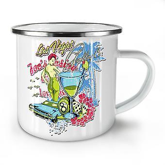 Las Vegas Gamble Game NEW WhiteTea Coffee Enamel Mug10 oz | Wellcoda